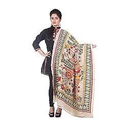 Darbari Women's Dupatta (OL-414_Beige_Free Size)