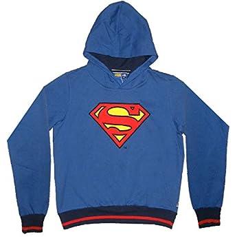 LIMITED EDITION: DC COMICS JUSTICE LEAGUE Jungen Superman Pullover Hoodie Jacke (Größe: 12)