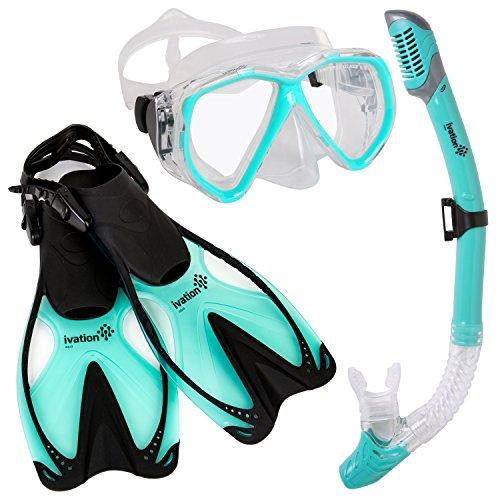 snorkel mask snorkeling packages tempered glass diving gear snorkel mask fins ebay