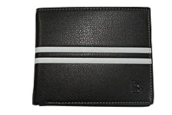 Fengfanglin Men Casual & Formal Black Artificial Leather Wallet With Note Compartment - For Men, Boys