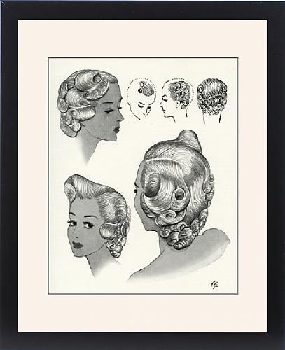 Framed Print Of Trafalgar Hairstyle 1940S