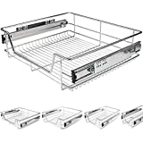 Schublade Teleskopschublade für Küchen- oder Schlafzimmerschränke in verschiedenen Breiten (30/40/50/60cm)