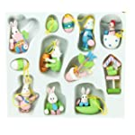 Easter Decorations - Box of 12 Wooden...