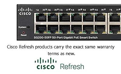 Cisco Refresh SG200-50FP Gigabit Switch Managed 48-ports PoE +2x SFP, 375W