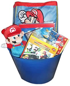 Nintendo & Wii Super Mario Basket - Perfect for Easter, Birthdays, Christmas, or Other Occasion