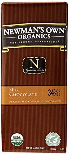 Newman's Own Organics Organic Milk Chocolate Bar, 3.25 oz