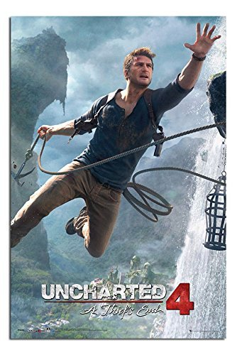 Uncharted 4 Un Theifs End Poster Laminato Lucido - 91.5 x 61cms (91.4x61cm)