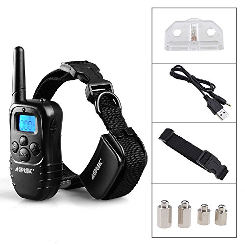 Remote Pet Dog Training Collar 300 Yard Rechargeable LCD 100LV Level Shock Vibra