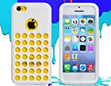 ETOU Cut-out Hole TPU Rubber Case for iPhone 5C (White)