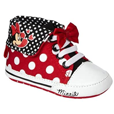 Amazon Disney Minnie Mouse Baby Hi Top Casual Shoes