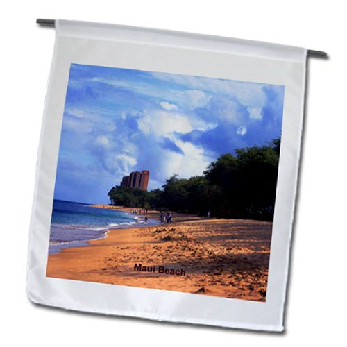 Sandy Mertens Hawaii Travel Designs - Maui Beach - 18 x 27 inch Garden Flag (fl_26340_2)