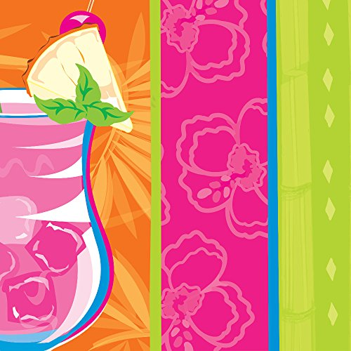Creative Converting 18 Count 2-Ply Lunch Napkins, Summer Sippin'
