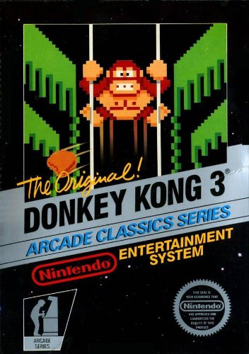 donkey kong 3 , nintendo nes system , imported but will work on modified consoles,