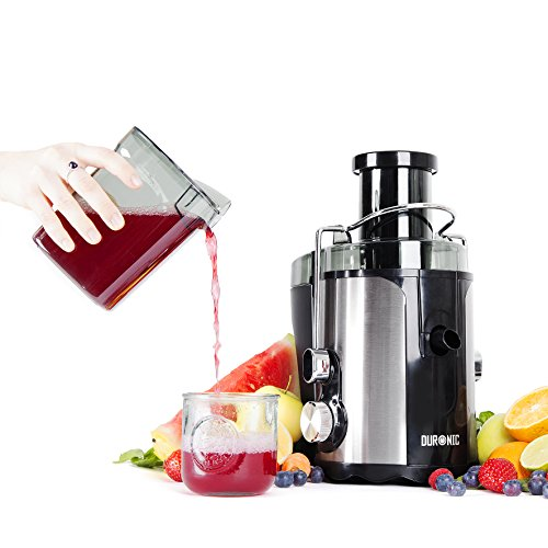 duronic je5 mini centrifugeuse compacte en inox pour fruits entiers avec carafe. Black Bedroom Furniture Sets. Home Design Ideas