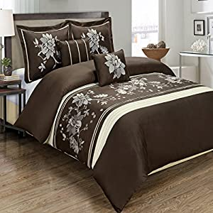 myra embroidered comforter set elegant and