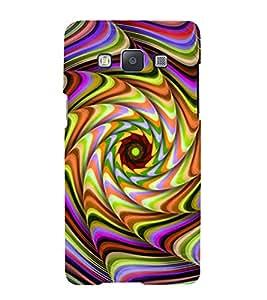 PrintVisa Modern Art Spiral Pattern 3D Hard Polycarbonate Designer Back Case Cover for Samsung Galaxy A7