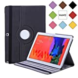 WAWO Samsung Galaxy Note & Tab PRO 12.2 Tablet Smart 360 ° rotation Case Cover-Black