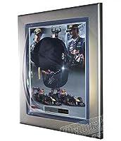 Signed Sebastian Vettel & Mark Webber Red Bull Racing F1 Cap Display - Autographed NASCAR Miscellaneous Items