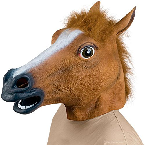 Novelty Latex Horse Head Mask Gangnam Style - 1
