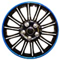 14 Inch Black with Blue Pinstripe Car Hub Caps Wheel Trims BOOSTER 14""