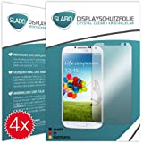 4 x Slabo Displayschutzfolie Samsung Galaxy S4 Displayschutz Schutzfolie Folie