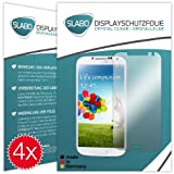 "4 x Slabo Displayschutzfolie Samsung Galaxy S4 Displayschutz Schutzfolie Folie ""Crystal Clear"" unsichtbar MADE IN GERMANY"
