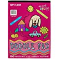 Top Flight Doodle Pad, White Newsprint Paper, 8.75 X 12  Inches, 100 Sheets (41313)