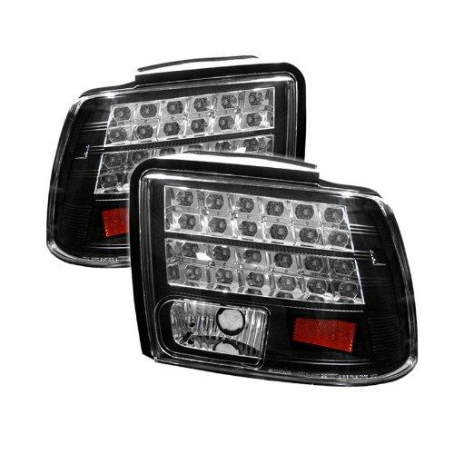 buy spyder ford mustang 99 04 led tail lights black free. Black Bedroom Furniture Sets. Home Design Ideas
