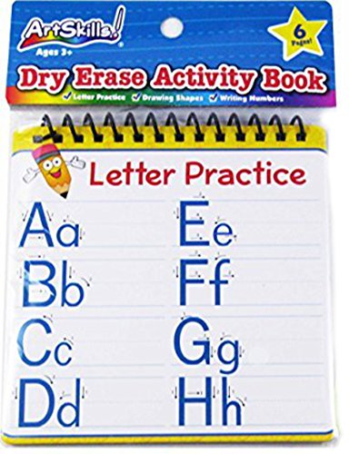 Dry Erase Activity Book - Practice writing Letters and Numbers and Drawing Shapes