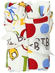 Trend Lab Dr Seuss ABC Bib Bouquet, 4 Piece