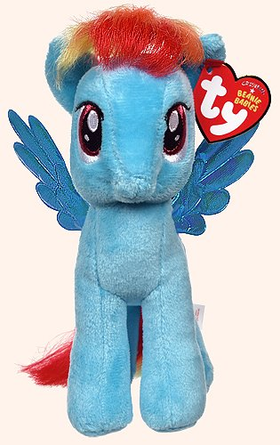 Ty Beanie Babies Rainbow Dash Plush From My Little Pony 7'' Inches New With Tag 17cm