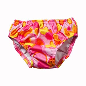 FINIS Girl's Swim Diapers (Pink Bubble, Small)