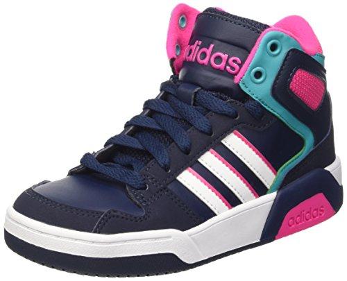 Adidas Bb9Tis Mid K Scarpe da basketball, Unisex bambini, Multicolore (Conavy/Ftwwht/Shogrn), 38