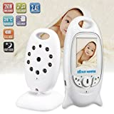 Mousand New Version Video Baby Monitor Security Digital Baby Videos Camera with Night Vision/ Temperature Monitoring/ 2 Way Talking System/ HIGH CAPACITY BATTERY
