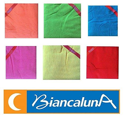 TELO MARE BIANCALUNA ART FLY&SPORT MICROSPUGNA MISURA 80X160 CM COLORE A SCELTA (ROSSO)
