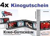 4x Kinogutschein für CineStar, Cinedom, Cineplex, Cinemaxx, UCI, Kinopolis, Kinostar uvm. von MovieChoice - So macht Kino Spaß. Einzulösen in fast allen Kinos in Deutschland. (4x Movie Choice Kinogutschein / Kino-Gutschein / Film / Movie-Choice)