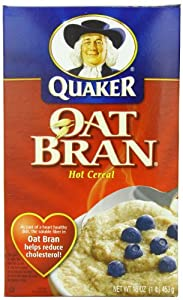 Quaker Hot Oat Bran Hot Cereal, 16 Ounce Box