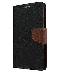 Nokia X2 Flip Cover Mercury Case (Black & Brown) By Vinnx