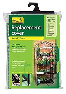 Gardman 4 tier mini greenhouse cover amazoncouk garden for Amazon gardman furniture covers