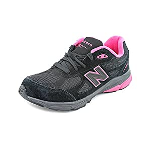 New Balance KJ990 Grade Running Shoe (Little Kid/Big Kid),Black/Pink,7 M US Big Kid