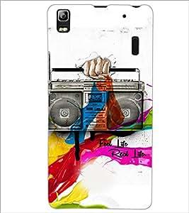 PrintDhaba Radio D-3449 Back Case Cover for LENOVO A7000 TURBO (Multi-Coloured)