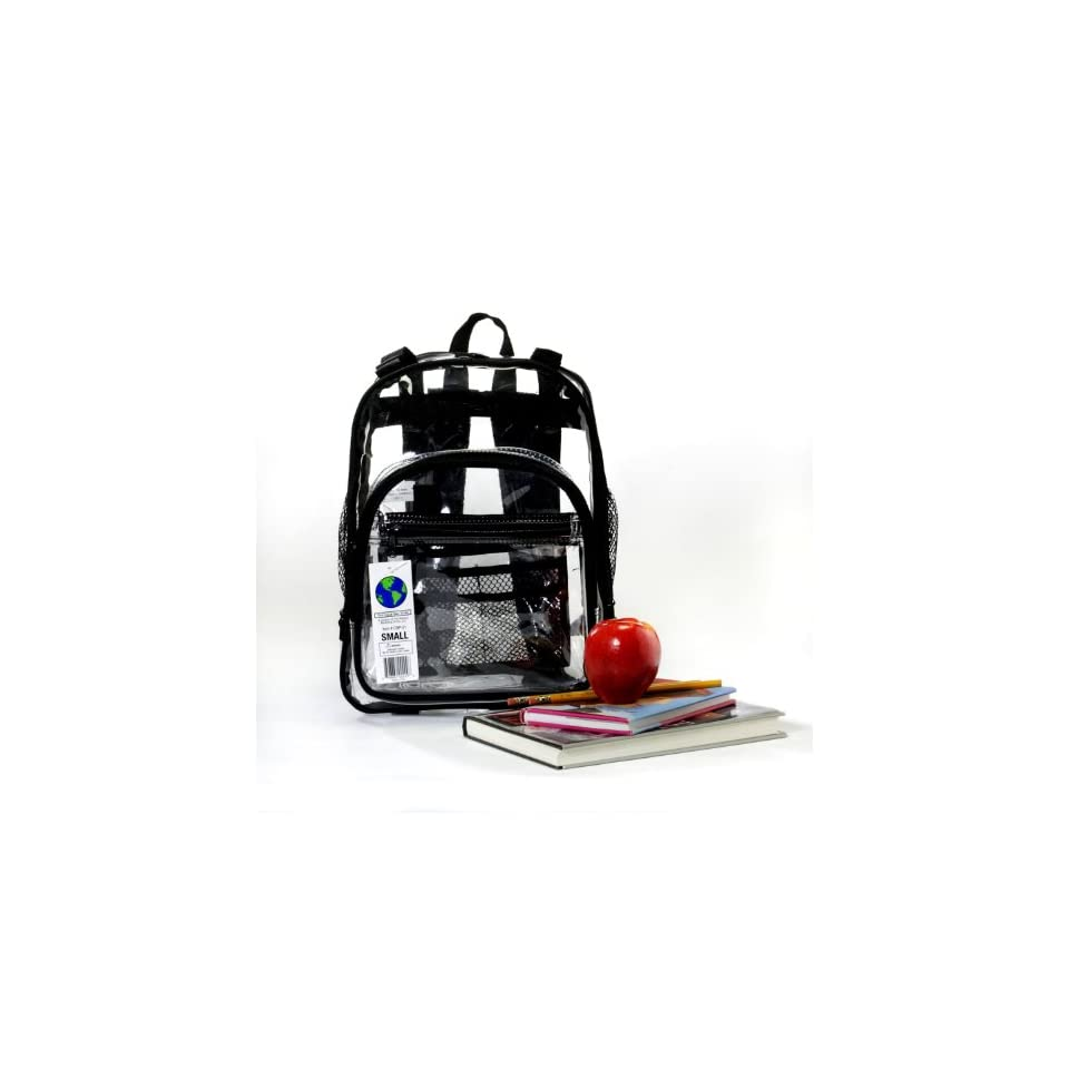 The Clear Bag Store   Super Heavy Duty Clear Backpack   3 Sizes Black or Pink