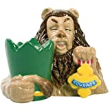 Westland Giftware The Wizard Of Oz Magnetic Cowardly Lion And Courage Badge Salt And Pepper Shaker Set, 3-1/4-...