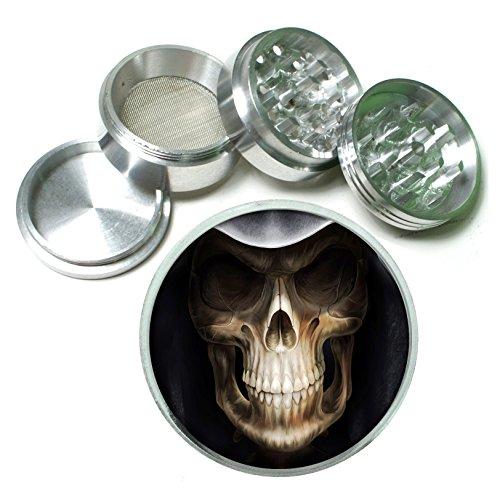 Grim Reaper 4Pc Aluminum Tobacco Spice Herb Grinder (Grim Reaper Grinder compare prices)