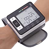 Automatic LCD Digital Wrist Monitor With Heart Rate With Case, Two User Modes, Sphygmomanometer Digital Blood...