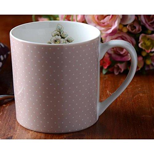 Becher, Tasse PUNKTE rosa, Porzellan, H 9cm, Creative Tops
