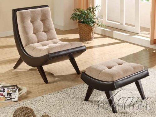 comfort Two-Tone Bi cast Chair & Ottoman 2-Piece Set