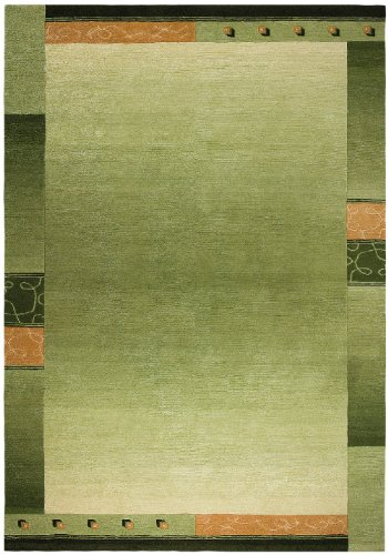 """Hand-Knotted Carpet Nepal Lime-Green """"6 Sizes Availlable"""" 2Ft9""""X5Ft2"""""""