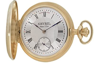 "Gevril Men's G624.950.56 ""1758 Collection"" Mechanical Hand Wind Swiss Pocket Watch"