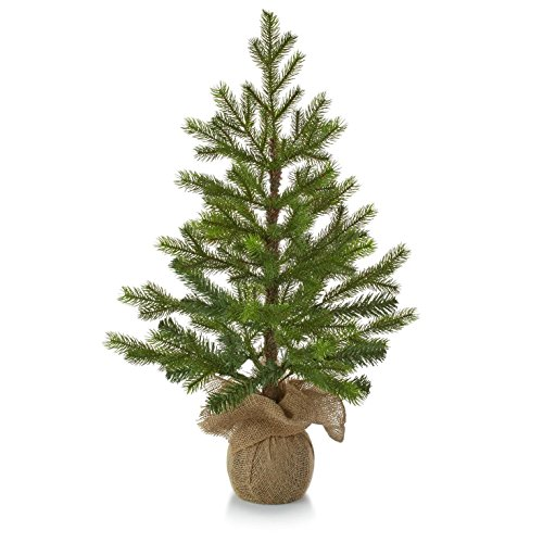 Hallmark Christmas LPR2402 Tabletop Evergreen Tree